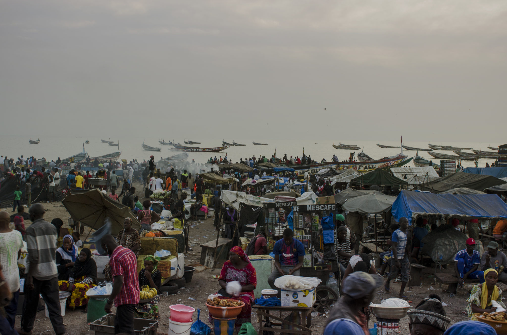 Fish-market-Mbour-overview