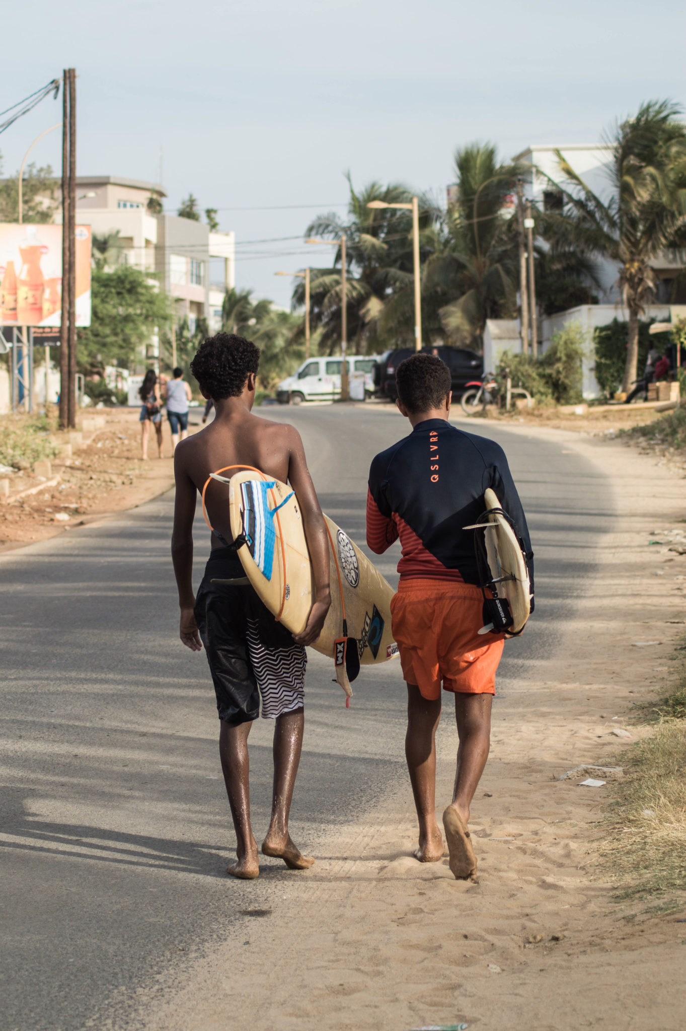 Senegal Surf: These two kids just finished off their session at Les Almadies in Dakar