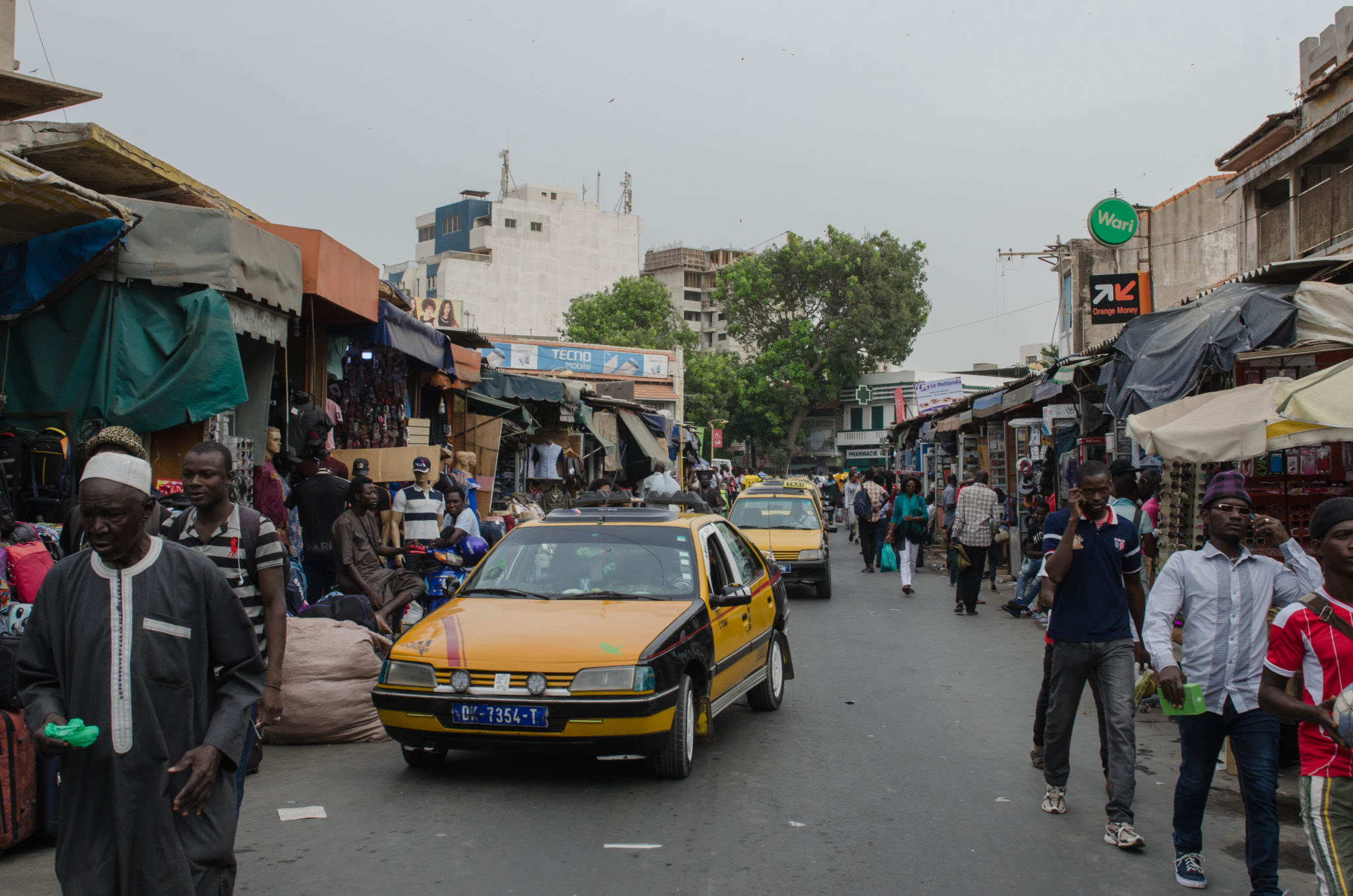 Senegal Travel Advice: Taxis in Senegal are black and yellow.