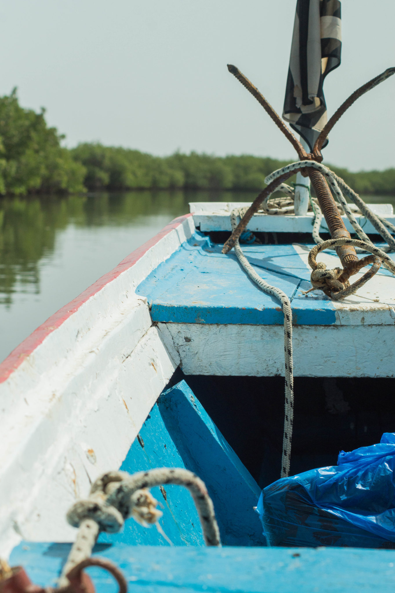 Taking the pirogue to the hotel is typical for a trip to the Sine Saloum Delta in Senegal