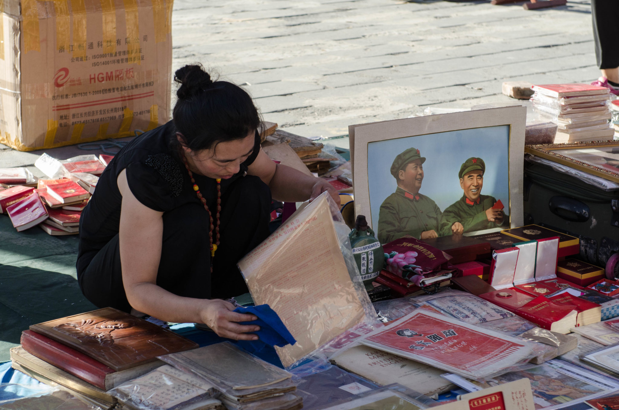 The Panjiayuan Antique Market in Beijing: Vendors have been here for years.