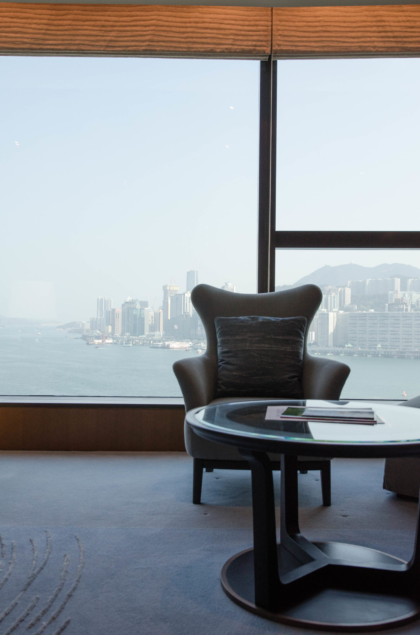 The Kerry Hotel Hong Kong in Hung Hom is designed in a minimalistic way.